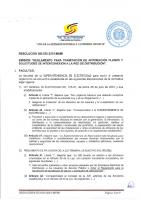 RESOLUCION SIE-030-2015-MEMI EMISION REGL TRAMITE APROBACION PLANOS Y SOLICITUDES INTERCONEXION